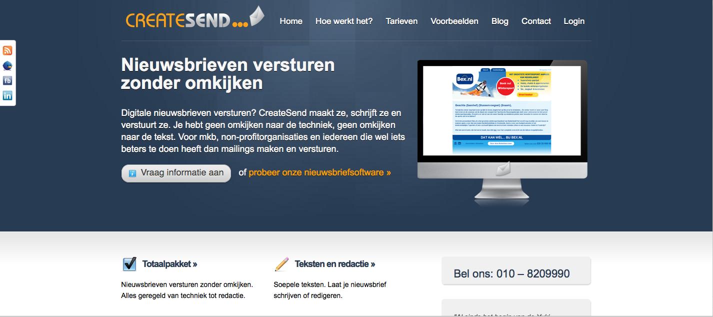 createsend website